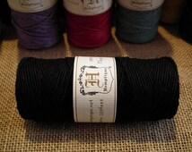 Black Hemptique Hemp Cord 1mm 20lb Full Large 50 g Roll 62.5m (205 ft) Solid Colour Beading Macrame Jewellery Twine Yarn Supplies