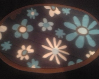 Flower placemats. Set of four.