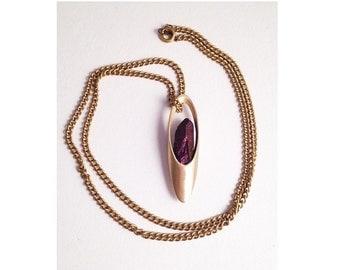 Vessel Necklace with Purple Quartz