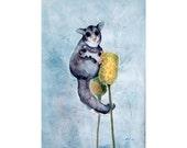 Sugarglider, Giclee print 8x10, Wildlife Art, Animal Painting, Watercolour Painting, Gift, Nursery decor, Illustration, Wall Art, Art Print
