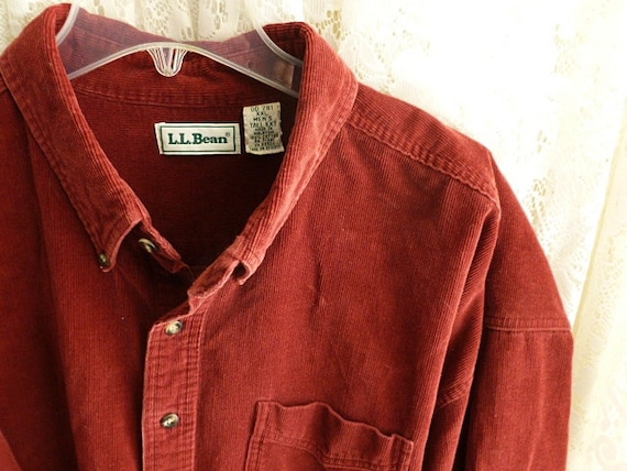 vintage ll bean corduroy shirt mens size tall extra extra. Black Bedroom Furniture Sets. Home Design Ideas