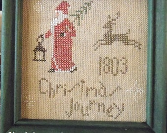 Christmas Journey... primitive pdf cross stitch pattern... instant download