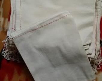 6 x 8 cotton draw string bag, craft bag, storage bag with single cotton drawstring, bundle of 100