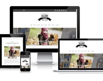 Allure Fashion Blogger Template With Sidebar