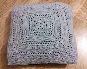 SALE Crochet cushion cover, cushion pad included