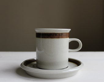 Arabia of Finland Coffee Cup and Saucer, Scandinavian Design
