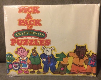 Vintage Avon Pick a Pack of Sweet Pickles Puzzles Sealed Collectible