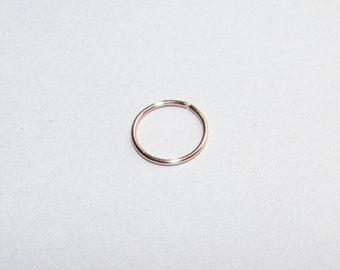 Nose Ring - Rose Gold Nose Ring- Nose Hoop Ring- Thin Nose Ring - Nose Hoop-lip ring -cartilage hoop