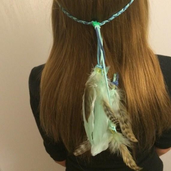 Feather Headband Native American inspired by enchantedheadwear