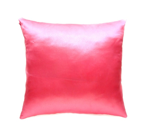 Light Pink Satin Throw Pillows : Satin Throw Pillow Pink Accent Pillow by AnnushkaHomeDecor on Etsy