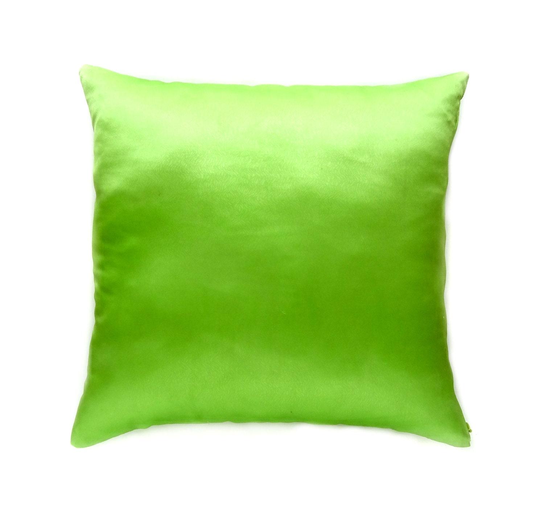 Satin Throw Pillow Green Accent Pillow Decorative Pillows