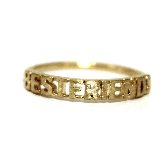 best friend ring gold gold silver available bff