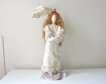 "Unique ""Victoria"" Cloth Doll Designed By Irene Horiuchi"