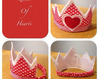 Queen Of Hearts Felt Crown * NOW REDUCED*