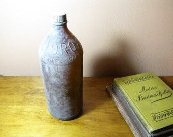 Vintage Amber Glass Clorox Bottle