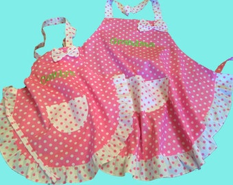 Mother Daughter aprons or Grandmother Granddaughter aprons
