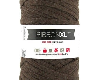 bulky recycled cotton yarn | Chestnut Brown