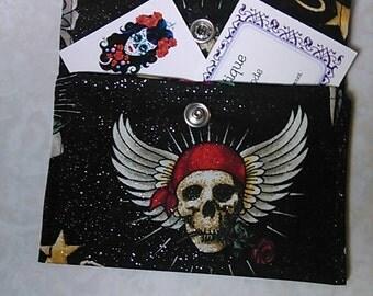 Skull mini wallet