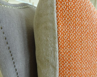 Orange Greek Key Trellis Pattern Pillow Cover - Orange Geometric Throw Pillow - Luxury Designer Throw Pillow - Hollywood Regency - 11276
