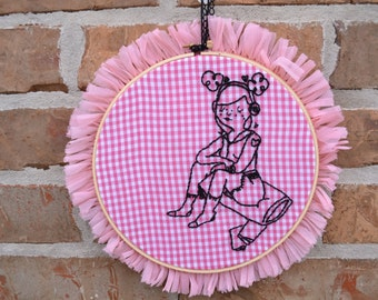 Tuesday Bassen Hand Embroidered Wall Art