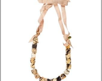 Graphic Feldspar Lei Necklace