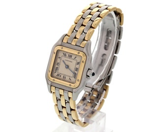 Ladies 18k Yellow Gold & SS Cartier Panthere 166921