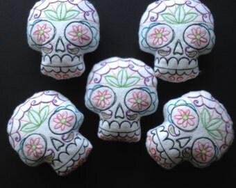 Calavera Sugar Skull Felt Pincushion
