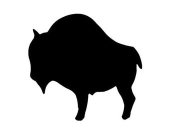 Bison Decal Etsy