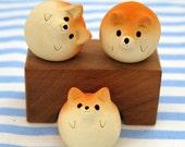 "Shiba Inu figurine of Ceramics New! ""Shiba balls""  Shiba is the Japanese dog."