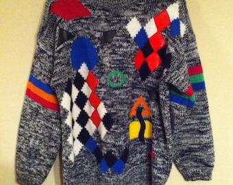 Vintage Exclusive Imports Acrylic Sweater / Women's Retro Sweater / Ladies Size Medium Sweater / Ladies Sweater /