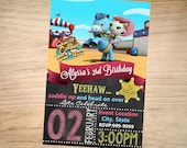 Sheriff Callie Birthday Invitation Chalkboard Christmas - Sheriff Callie Invitation -Sheriff Callie Invite - DIGITAL