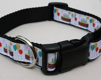 """1"""" Adjustable birthday dog collar"""
