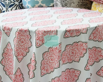 Tablecloth - Premier Prints Cotton - MONROE - Bittersweet - Choose Your Size - Table Linen Wedding Home Decor Dining Kitchen