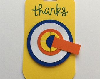 Nerf Party Favor Tag