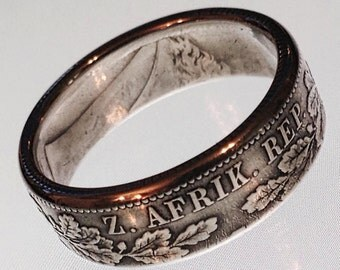 South African Shilling Coin Ring