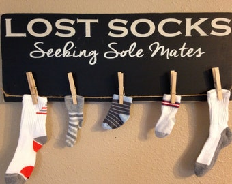 Lost socks seeking sole mates. Functional laundry room decor