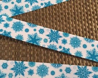 """7/8"""" Frozen Ribbon...Snowflake Ribbon"""