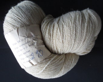 Natural White Sheep Wool Vintage Yarn Natural Un-Dyed Knitting Thread made in 1990's, 290g/10,2 oz
