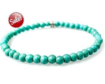 Men's Bracelet ,Mens beaded Bracelet, bracelet for men, Turquoise bracelet, beaded bracelet, Men's gift, Men's Jewelry, mens cuff bracelet