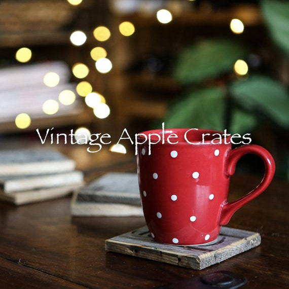 Rustic drink coasters handmade from genuine by for Handmade drink coasters