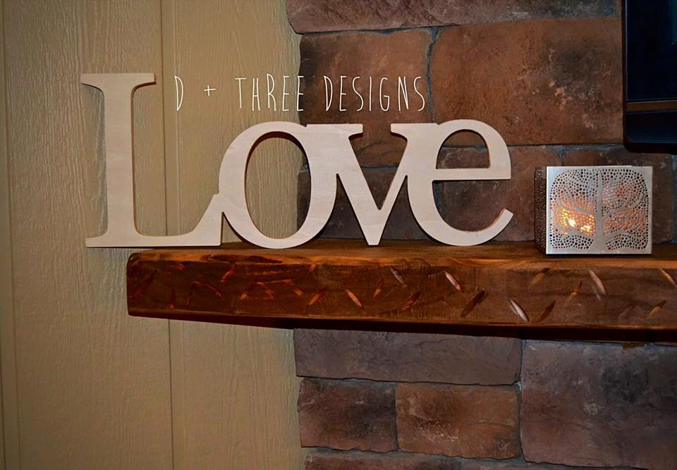 Love Sign Wooden Letters Home Decor Wooden Phrase Shelf