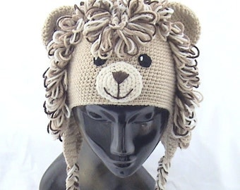 Crochet lion hat,Crochet animal hat,Crochet kids hat,Crochet fun hat,Crochet lion