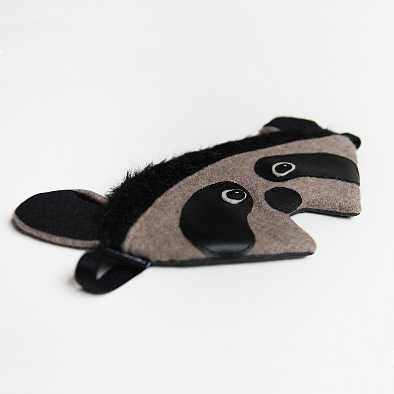 Raccoon sleep mask: racoon silk eye mask sleeping mask by ... Raccoon Eye Mask