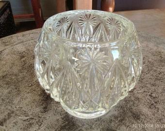 Avon Cut Glass Starburst Candle Holder