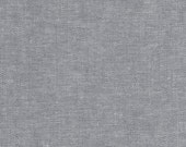 """1 Grey Linen Fabric Cafe Curtain 48x20"""" Lined with cotton"""