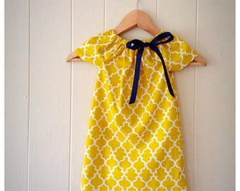 Girls yellow dress | Etsy