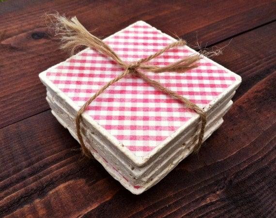 Items Similar To Natural Stone Coasters Set Of 4