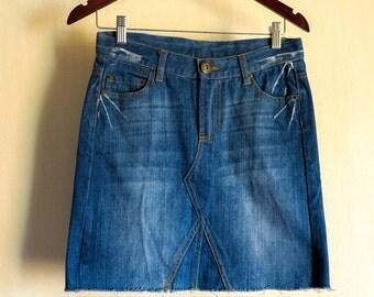 Short Denim skirt / mini jean skirts/  size 36/ UK 8