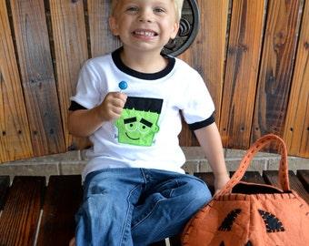 Halloween Frankenstein Applique Shirt