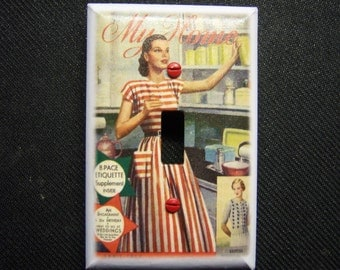 Light Switch Cover 1950s My Home Print